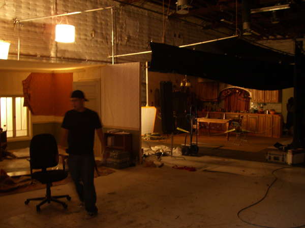 The Sunday Man set at Gower Studios in Hollywood